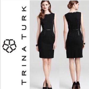 Trina Turk Dresses - Trina Turk Leather & Lace Dress